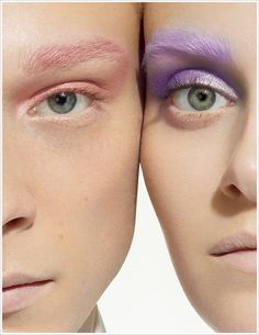 MAC | Pressed Pigments Spring 2013 | matching mascara, shadow and brows | #beauty #makeup