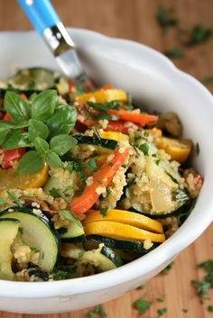 Monika od kuchni: Obiad w 30 minut - 8 łatwych propozycji Couscous, Kung Pao Chicken, Japchae, Green Beans, Risotto, Zucchini, Healthy Recipes, Healthy Food, Lunch