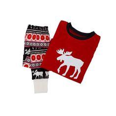 49a9cf2d90 EFINNY - EFINNY Christmas Family Matching Pajamas Set Deer Adult Mum Dad  Kid Sleepwear Nightwear Asian Size 2Pcs set - Walmart.com