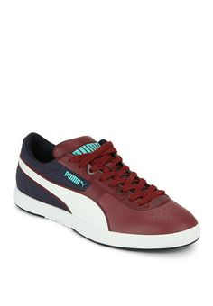 Puma Future Brasil Lite Rugged Maroon Sneakers for men.