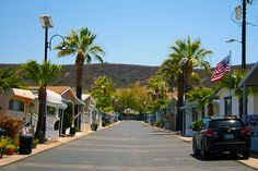 Lumina solar street lights in Santee, California.
