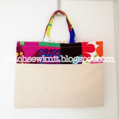 Patch, Sew and Knit!: Quilt tote bag with Marimekko fabrics
