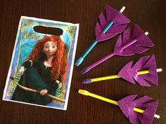 Brave party favors: Arrow pencils, use erasers as arrow tips