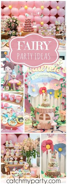 Fairy Tale Birthday Party Ideas Fairy birthday party Fairy