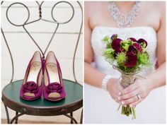 burgandy/wine palette in this Washington Barn Wedding | Red Sparrow Photography