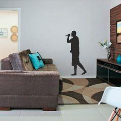 Adesivo Decorativo de Parede Vocalista, é um adesivo decorativo de parede Adesivo decorativo para você ter em uma parede, pode ser ela do quarto, da sala...