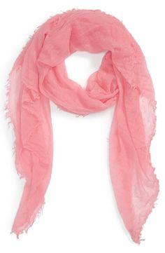 Soft Pink Cashmere Wrap Scarf