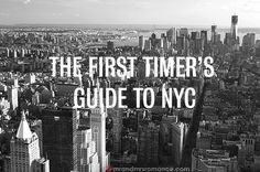 The Ultimate First-timer's Guide to New York City