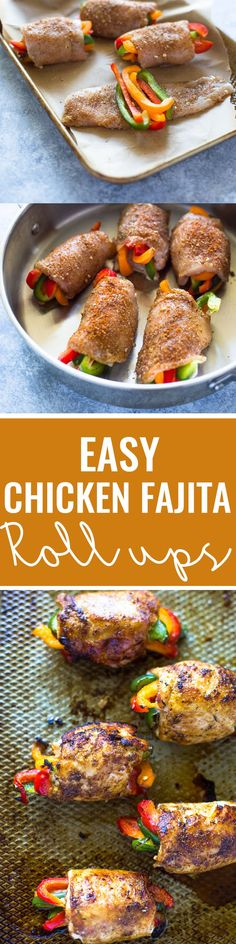 Baked Chicken Fajita Roll-ups | Gimme Delicious