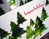 Christmas Tree Happy Holidays Cards, Boxed Set of 6, Blank Inside