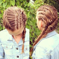 Cornrows into a french Fishtail :)