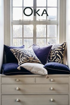 Perfect your pillowscape. Style in abundance for a more contemporary design and, most importantly, optimal comfort.   To help inspire your next interior makeover, discover our latest collection at #OKA.com