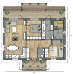 LATO 58 A - Kannustalo Aurora, House Plans, Sweet Home, Floor Plans, How To Plan, Dream Houses, Dream Homes, House Beautiful, Northern Lights