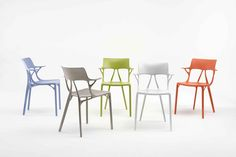 Kartell and Philippe Starck Created The First A. Chair Design - For 70 years, the renowned furniture brand has researched industrial processes that could tr Philippe Starck, Top 14, Milan Design, Design Trends, Chair Design, Furniture Design, Bespoke Furniture, Luxury Furniture, Bedroom Furniture