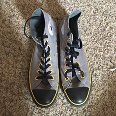 quality design fb174 23380 Converse high tops Black , gray, and yellow! Batman colors! Very cute just