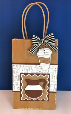 Joy at 'everyday cricut' website; Cricut Coffee Gift Bag with Love You a Latte Coffee Cards, Coffee Gifts, Wrapping Ideas, Gift Wrapping, Envelopes, Halloween Gift Bags, Decorated Gift Bags, Scrapbooking, Cricut Cards