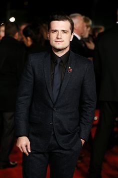 Josh Hutcherson attends The Hunger Games: Mockingjay Part 2 - UK Premiere at Odeon Leicester Square on November 5, 2015 in London, England