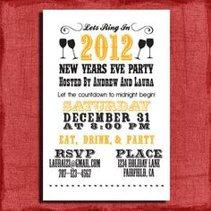vintage 2015 new years eve printable invitation card new years party new years celetion 2015 new years eve 2015 new year party ideas pinterest