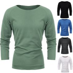 [US$14.99] Men Pure Color Round Neck Long Sleeve Knitwear Knit Shirt #pure #color #round #neck #long #sleeve #knitwear #knit #shirt