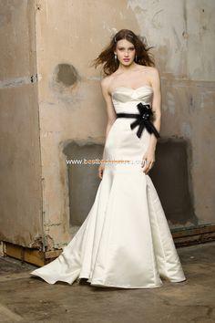Robe de mariée sirène satin avec ceinture