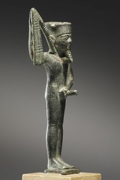A Statuette of the Fecundity God Min. Egypt, Late Period, 26th to 30th Dynasty, 6th-4th cent. B.C.