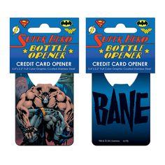 Batman Bane Credit Card Bottle Opener Credit Card Bottle Opener, Bottle Openers, Bane, Batman, Entertainment, Earth, Diy Bottle Opener, Bottle Opener, Mother Goddess