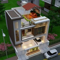 The modern home exterior design is the most popular among new house owners and those who intend to become the owner of a modern house. 2 Storey House Design, Bungalow House Design, House Front Design, Design Your Dream House, Small House Design, Modern Exterior House Designs, Modern House Facades, Modern House Design, Exterior Design