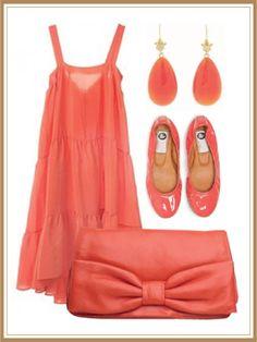 vestido color coral para joven 2
