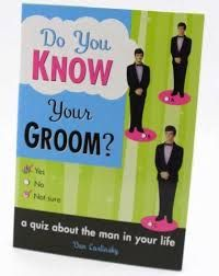 $5.95 Cute and funny quiz book for the wedding shower or bachelors night out.