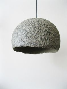 Stone lamp, eco lamp,paper mache lamp,hanging lamp,paper pulp lamp,pendant lamp,handmade lamp,eco lamp,eco friendly,recycled lamp by Mazunii on Etsy