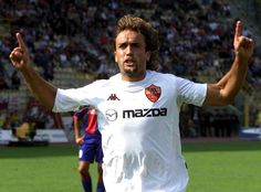 #9ine @Batistuta As Roma, Gabriel, World Football, Soccer, Sports, Mens Tops, Batman, Argentina, Hs Sports