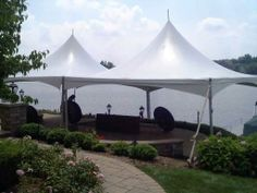 20 x 40 festival frame tent for a backyard birthday party. 844-TENT PRO