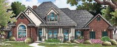 Country House Plan with 2710 Square Feet and 4 Bedrooms(s) from Dream Home Source | House Plan Code DHSW72777