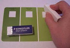 Here's a tip: you can erase the printing right off the front of most paint chips. Some of them take more elbow grease.