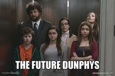 Luke, Alex, and Haley and their future selves.