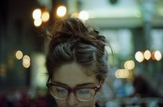 """pureblyss: """"Messy hair goals. And lashes. And glasses. """""""