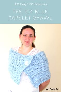 Crochet Icy Blue Capelet Shawl This Icy Blue Capelet Shawl is crocheted using a gorgeous light blue wool blend that is or bulky in weight. The capelet has a lovely feel to it as it has repeated rows of working in the front loop… Capelet, All Craft, Blue Wool, Crochet Clothes, Wool Blend, Crocheting, Shawl, Crochet Top, Tv