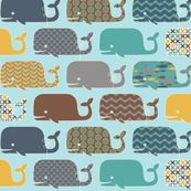 WHALES! love the graphic patterns :)