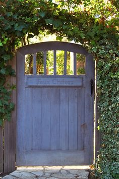Gateway into a yard or garden. Love!! Definitely having one of these.
