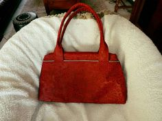 Sac City Zip-Zip cousu par Glin en simili rouge floqué - Patron de couture Sacôtin