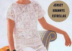 Jersey con grannys estrellas crochet patron