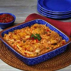 Fiesta Chicken and Rice Bake: This is so good and I followed the recipe as is.