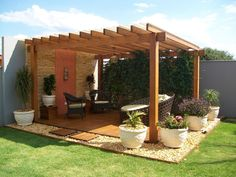 Pergola For Small Patio Backyard Seating, Backyard Patio Designs, Outdoor Pergola, Pergola Designs, Pergola Plans, Backyard Landscaping, Outdoor Decor, Patio Ideas, Patio Gazebo