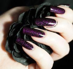 scribble nail art
