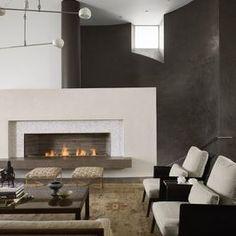 Modern Living Photos Modern Copper Fireplace Surround Design,