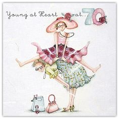 Young At Heart 70 Birthday Berni Parker Designs Card