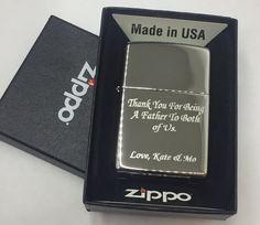 HIGH POLISH CHROME Personalized Zippo Lighter Monogramed