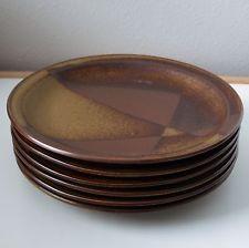 "Iron Mountain Stoneware ROAN MOUNTAIN 11"" Dinner Plates Nancy Patterson Lamb"