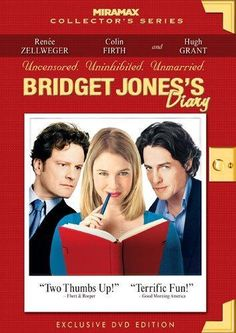 Bridget Jones's Diary.  Based on Helen Fielding's hugely popular novel, this romantic comedy follows Bridget (Renee Zellweger), a post-feminist, thirty-something British woman who has a penchant for alcoholic binges, smoking, and an inability to control her weight. While trying to keep these things in check and also deal with her job in publishing, she visits her parents for a Christmas party. They try to set her up with Mark (Colin Firth), the visiting son of one of their neighbors...