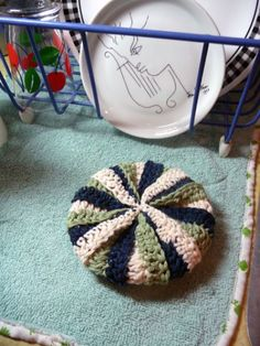 Craft Japanese with this cute dish scrubbie pattern. I'll show you how to make it, step by step.